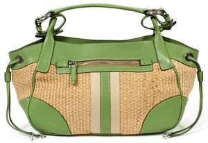 PRADA PAGLIA AND VITELLO WOVEN SHOULDER BAG