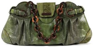 SALVATORE FERRAGAMO GREEN LIZARD SKIN BAG