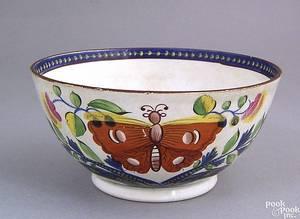 Gaudy Dutch waste bowl 19th c
