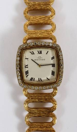 MOVADO SWISS 18KT YELLOW GOLD LADIES WATCH