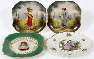 EUROPEAN PORCELAIN CABINET PLATES LATE 19TH20TH C