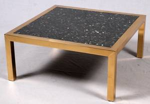 CONTEMPORARY MARBLE TOP COFFEE TABLE