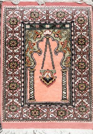 TURKISH HAND WOVEN WOOL PRAYER RUG