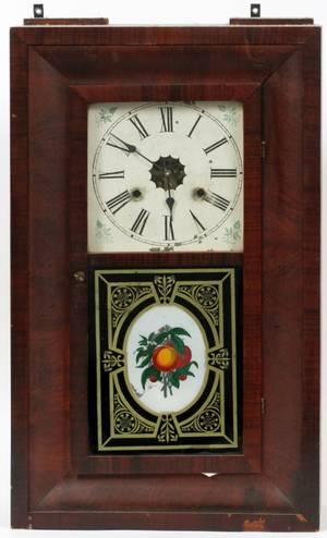 NEW HAVEN CLOCK CO MAHOGANY OGEE CLOCK