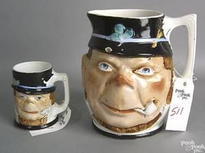 Large Ironstone mug in the form of an Irishman