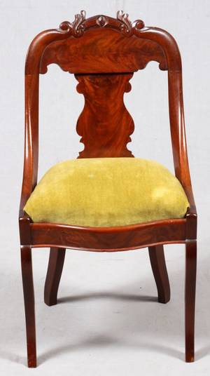 AMERICAN EMPIRE MAHOGANY SIDE CHAIR C 1840