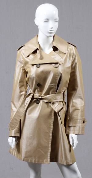 BURBERRY DOUBLEBREASTED TRENCH COAT