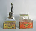 Three tin cigar and cigarette boxes