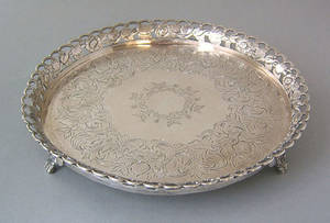 Continental silver salver 18th c