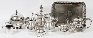 AMERICAN VICTORIAN SERVING PIECES 19TH C