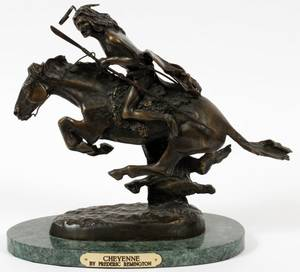 AFTER FREDERIC REMINGTON BRONZE SCULPTURE