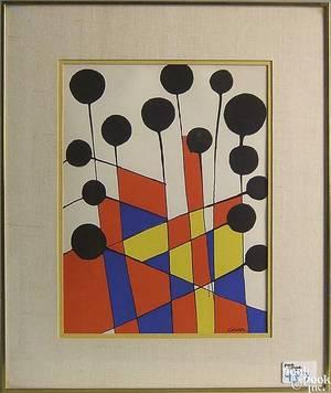Alexander Calder lithograph titled Balloons