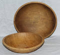 1092 AMERICAN CARVED MAPLE BOWLS 19TH CENTURY TWO D