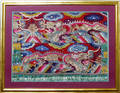 0071 CHINESE FRAMED EMBROIDERY 20 X 26