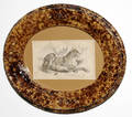 121280 BENNINGTON OVAL POTTERY PICTURE FRAME CIRCA 18