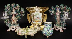 5 Pieces of Continental Porcelain