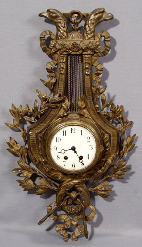 2229 FRENCH JAPY FRERES BRONZE CARTEL CLOCK 19TH C