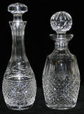 021291 WATERFORD CRYSTAL DECANTERS TWO H 10  11