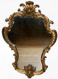 011296 FRENCH STYLE CARTOUCHE SHAPE WALL MIRROR C 19