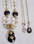 121317 VICTORIAN PENDANTS TWO AND A CRYSTAL NECKLACE
