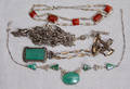 121316 ANTIQUE NECKLACES INCLUDING STERLING SILVER F