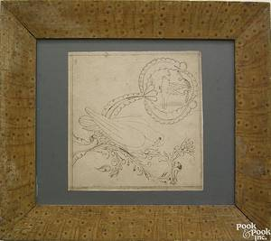 Pennsylvania ink on paper fraktur drawing 19th c