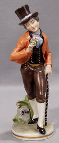 0203 FRANKENTHAL WGERMANY PORCELAIN MALE FIGURE WIT