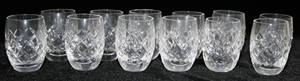 021304 WATERFORD ALANA PATTERN CRYSTAL SHOT GLASSES