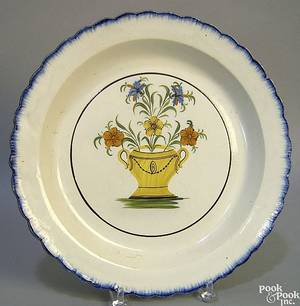 Creamware charger early 19th c