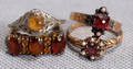 121330 ANTIQUE AMBER RINGS FOUR
