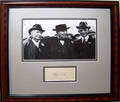 120221 LUTHER BURBANK AUTOGRAPH FRAMED WITH PHOTO INC