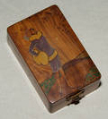 1290 FRENCH PAINTED WOOD BOX DATED 1923 L 4 34