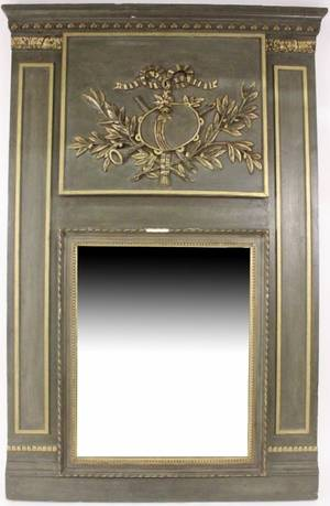 Continental Neoclassical Style Trumeau Mirror