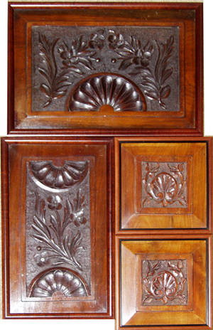 0243 ENGLISH CARVED MAHOGANY ARCHITECTURAL DETAILS PA