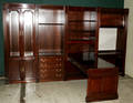122248 AMERICAN CARVED MAHOGANY MULTISECTION EXECUTIV
