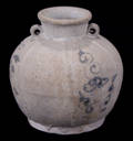 113105 CHINESE EARLY BLUE AND WHITE WARE JAR YUAN DYN