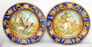2334 SIGNED TOSSANI ITALIAN HAND PAINTED PORCELAIN CH