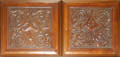 0288 ENGLISH CARVED ARCHITECTURAL PANELS PAIR 19TH C