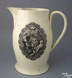 Liverpool creamware pitcher early 19th c