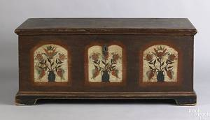 Pennsylvania painted blanket chest late 18th c