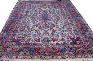 120308 KERMAN PERSIAN HAND MADE WOOL ORIENTAL RUG 12