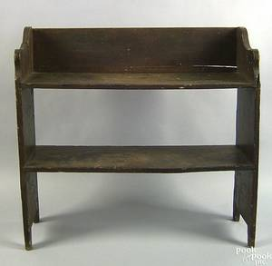New England pine bucket bench 19th c