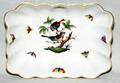 1386 HEREND PORCELAIN TRAY ROTHSCHILD BIRD PATTERN