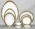 1379 LIMOGES FRENCH PORCELAIN DINNER SERVICE 49 PIEC