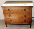 0314 BAKER PALADIAN MAHOGANY CHEST OF THREE DRAWERS