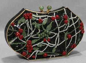 22250 JUDITH LEIBER CHERRY SEQUENCED EVENING BAG H 4