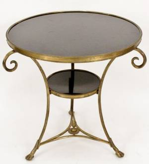 French Directoire Style Granite Top Gueridon