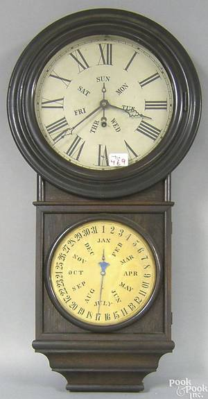 Forestville Connecticut calendar clock by Welch