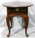 120343 QUEEN ANNE STYLE MAHOGANY TABLE H 23 12 W 2