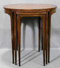 120324 SET OF THREE NESTING TABLES H 24 34 W 24